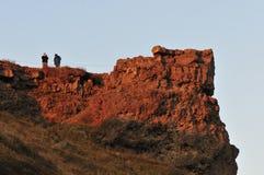 Lava Cliff Royalty Free Stock Photo