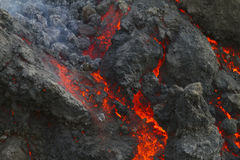 Lava close up Royalty Free Stock Images