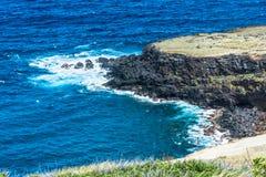 Lava coast in Big Island, Hawaii Royalty Free Stock Photo