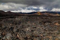 Lava congelada do vulcão de Tolbachik, Kamchatka imagens de stock royalty free