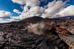 Lava congelada do vulcão de Tolbachik, Kamchatka foto de stock royalty free