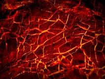 Lava crack textured background Stock Photos
