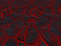 Lava through the cracks Stock Photography