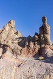 Lava d'imposizione e formazioni rocciose intorno all'area del EL Teide, Tenerife, Spagna del vulcano fotografia stock libera da diritti