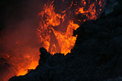 Lava de Vulcan Foto de Stock Royalty Free