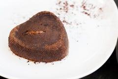 Lava del cioccolato Fotografie Stock Libere da Diritti