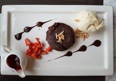 Lava del cioccolato Immagini Stock