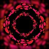 Lava del vector aislada en un fondo negro Ilustración del Vector