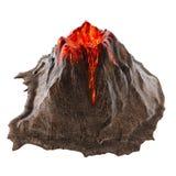 Lava del volcán sin humo en el isolatedbackground ilustración 3D libre illustration