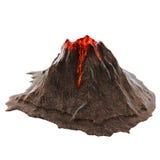Lava del vulcano senza fumo sul isolatedbackground illustrazione 3D illustrazione di stock