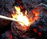 Lava derretida Imagens de Stock
