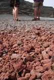 Lava di pietra frantumata a Lanzarote Fotografie Stock