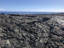 Lava do parque nacional dos vulcões na ilha grande imagem de stock