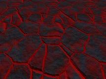 Lava door de barsten vector illustratie