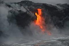 Lava em Havaí imagem de stock