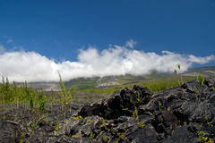 Lava Eruption at La Fournaise on Reunion island Royalty Free Stock Photography