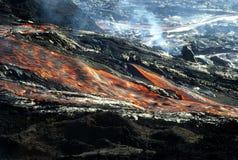 lava för 2 flöde arkivfoto