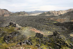 Lava field Royalty Free Stock Photos