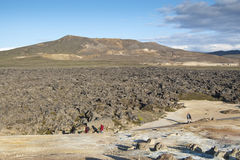 Lava field Royalty Free Stock Images