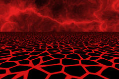 Lava field background. Red lava field fractal background Royalty Free Stock Images