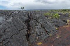 Lava Field on Big Island of Hawaii Stock Image