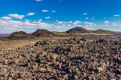 Lava Field And Cinder Cones. In Crators Of The Moon National Monument And Preserve, Idaho Royalty Free Stock Photos