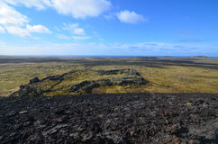 Lava Field Covered in Moss on Iceland`s Snaefellsnes Peninsula Royalty Free Stock Photos