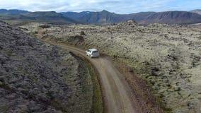 Lava field drive stock video footage