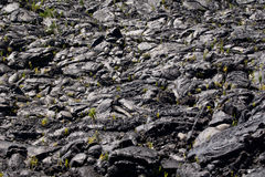 Lava field. Lava Eruption at La Fournaise on Reunion island, Coulee de Lave Royalty Free Stock Photo