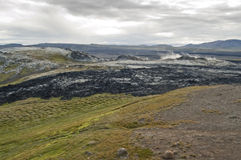 Lava field in Iceland Royalty Free Stock Image