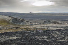 Lava field in Iceland Royalty Free Stock Photography