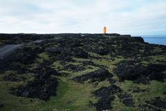 Lava field in Iceland Stock Image