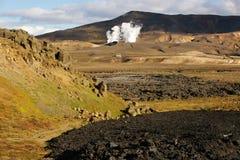 Lava field Royalty Free Stock Photos