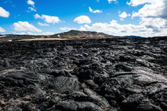 Lava field of the Krafla. Volcano in the north of Iceland Royalty Free Stock Images