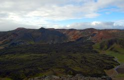 Lava field in Landmannalaugar, Iceland. Royalty Free Stock Photo