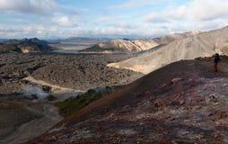 Lava field at Landmannalaugar mountains Royalty Free Stock Image