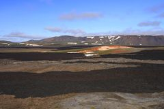 The lava field of Leirhnjukur Royalty Free Stock Images