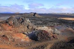 The lava field of Leirhnjukur stock image
