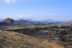 The lava field of Leirhnjukur Stock Photo
