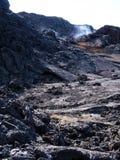 The lava field of Leirhnjukur. Black hot lava field of Leirhnjukur in the north of Iceland Stock Photography