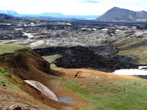 The lava field of Leirhnjukur. In the north of Iceland Royalty Free Stock Image