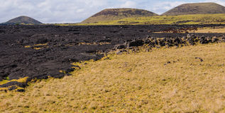 Lava field on Mauna Kae Stock Image