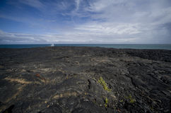 Lava Field at Ocean Royalty Free Stock Images