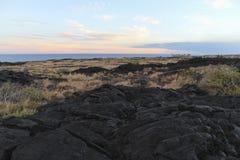 Lava field slope, Big Island, Hawaii. Lava field slope with trees, Big Island, Hawaii Stock Images