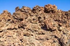Lava Field on Tenerife, Spain. Stock Photo