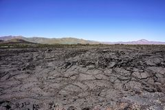 Lava fields, Craters of the moon National Park, Idaho stock image