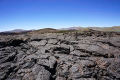 Lava fields, Craters of the moon National Park, Idaho stock photos