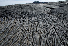Lava fields on Galapagos islands Stock Photos