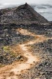 Lava fields Leirhnjukur volcano, Iceland Stock Images