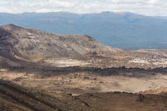 Lava fields at Tongariro National Park Stock Photo
